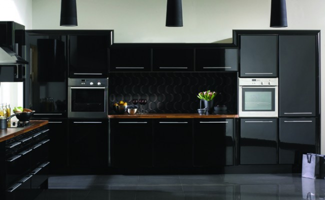 High Gloss Black Pisa Kitchen