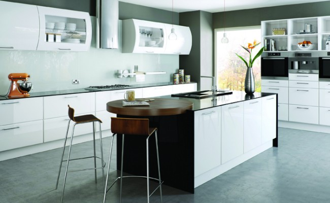 High Gloss White Lincoln Kitchen