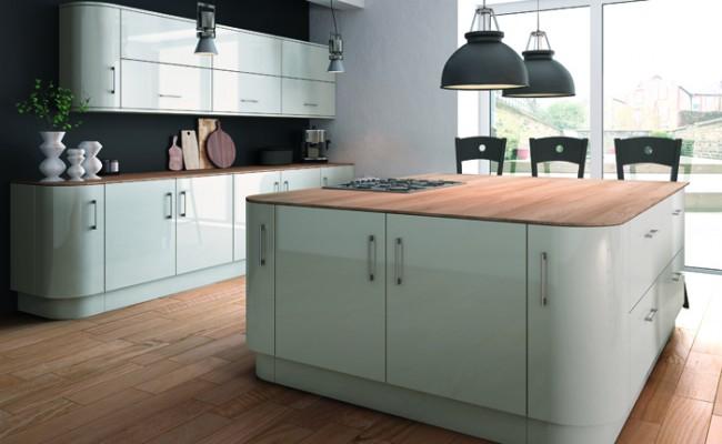 Ultra Gloss Light Grey Kitchen