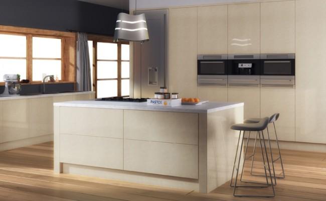 Ultra Gloss Limestone Kitchen