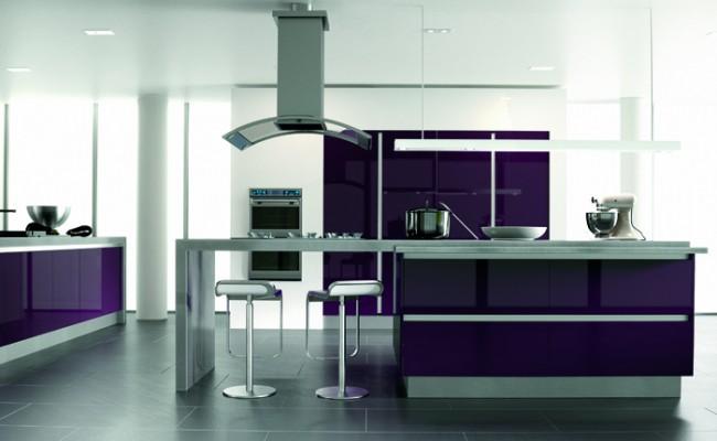 Ultra Gloss Plum Kitchen