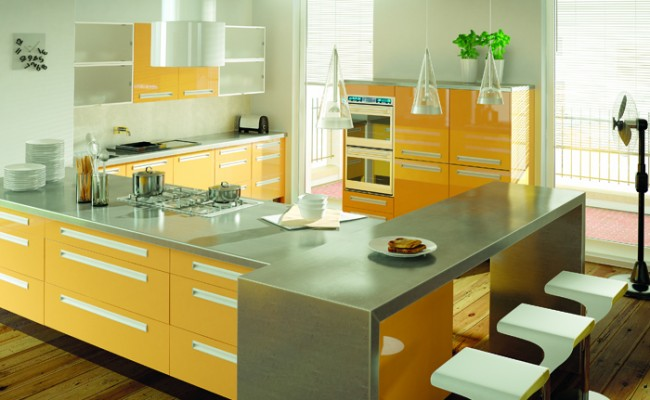 Ultra Gloss Saffron Kitchen